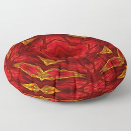 Red involvements Floor Pillow