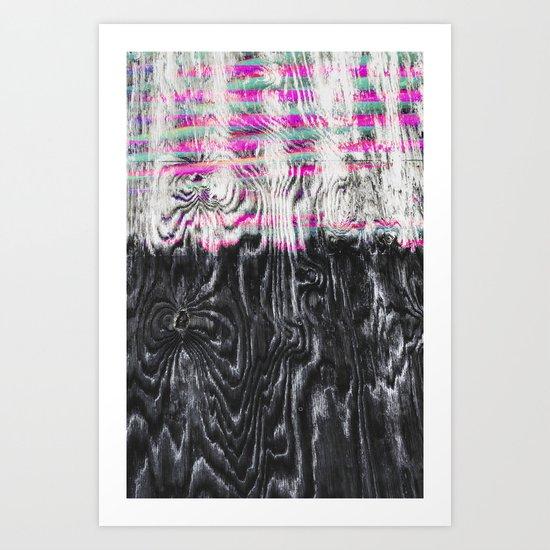Daft Splinters Art Print