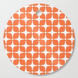 Mid Century Modern Star Pattern Orange 2 Cutting Board
