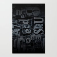 lettering Canvas Prints featuring LETTERING  by Ylenia Pizzetti