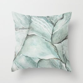 Aquamarine Stone Throw Pillow