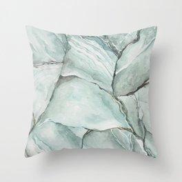 Aquamarine Stone Throw Pillow
