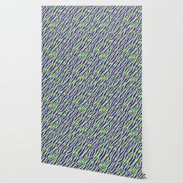 Vintage Retro 1980s 80s New Wave Zebra Stripe Pattern Wallpaper