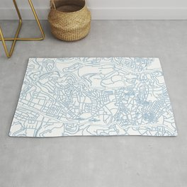 Street MAP Jerusalem // Blue Rug