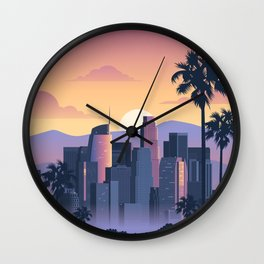 Los Angeles Vintage Travel Wall Clock
