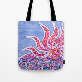 Hectic Sunset Tote Bag