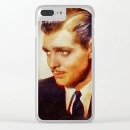 Clark Gable, Vintage Hollywood Legend Clear iPhone Case