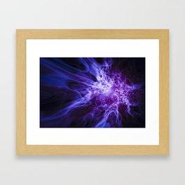 Real Purple Fire Framed Art Print