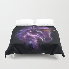 galaxy of the unicorn  Duvet Cover