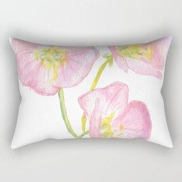 Pink Evening Primrose Wildflower Rectangular Pillow