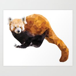 POLYGON RED PANDA Art Print