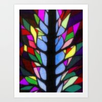 stained glass Art Prints featuring Stained Glass by Sartoris ART