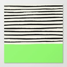 Key Lime x Stripes Canvas Print