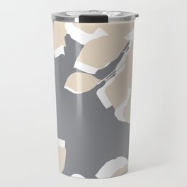leaves grey and tan Travel Mug