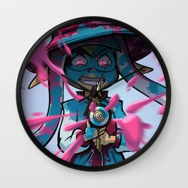 Pink vs Blue Wall Clock