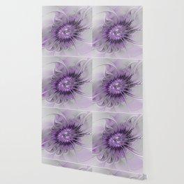 Lilac Fantasy Flower, Fractal Art Wallpaper