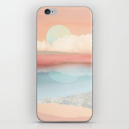 Mint Moon Beach iPhone Skin
