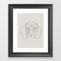 One Line Dachshund Framed Art Print