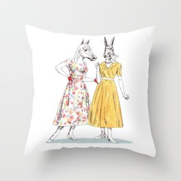 Bestial ladies Throw Pillow