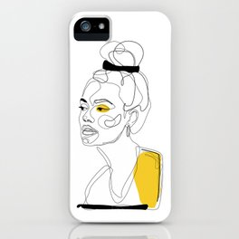 Yellow Sketch iPhone Case