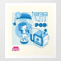 Cat Pod Art Print