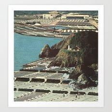 beached island Art Print