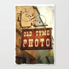 Old Tyme Photo - Grunge Canvas Print