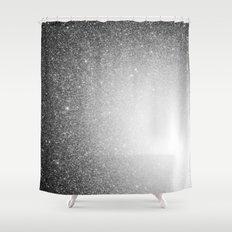 Galaxy Stars Ombre : Black Slate Gray Shower Curtain