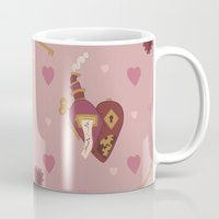 valentines Mugs featuring Steampunk Valentines by S. Vaeth