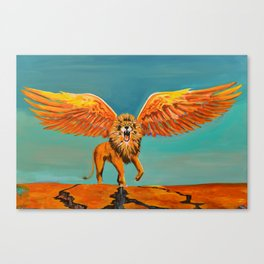 The Conquering Lion Canvas Print