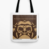 planet of the apes Tote Bags featuring No270 My PLANET OF THE APES minimal movie poster by Chungkong