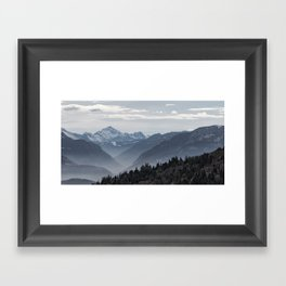 Alpes Framed Art Print