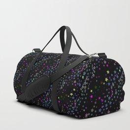 Magic Stars, Stardust, Midnight Black Duffle Bag