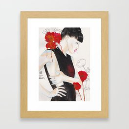 Coquelicots Framed Art Print