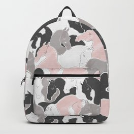 Playing Horses pattern Backpack