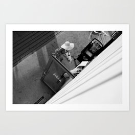 Coffee time - Black and white photography Art Print
