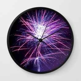 Fireworks - Purple Haze Wall Clock