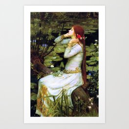 Ophelia by the Water Art Print