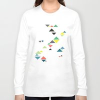 triangles Long Sleeve T-shirts featuring Triangles by Cassia Beck