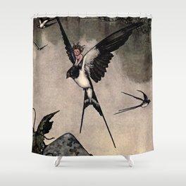 """Thumbelina"" Fairy Tale by W Heath Robinson Shower Curtain"