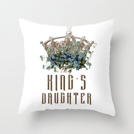 The King's Daughter Psalm 45 Floral Crown Throw Pillow
