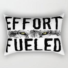 Effort Fueled Motivatonl Quote Wolf Art Rectangular Pillow