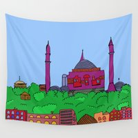 istanbul Wall Tapestries featuring Istanbul by andy_panda_