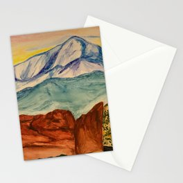 Pikes Peak at Sunset  Stationery Cards