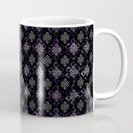 Endless Knot pattern - Silver and Amethyst Coffee Mug