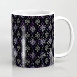 Endless Knot pattern - Silver and Amethyst Coffee Mug