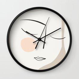 Dreaming Girl Portrait #minimalart Wall Clock