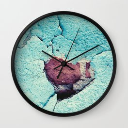 Turquoise Grunge Texture 4 Wall Clock