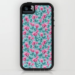 Pink & Teal Lovely Floral iPhone Case
