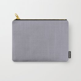 Pantone Lilac Gray 16-3905 Trendy Earth Tone Solid Color Carry-All Pouch